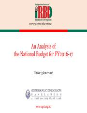 Analysis-of-the-National-Budget-FY-2016-17-Powerpoint