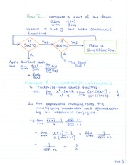 MATH 133 Simplification of the Limit Theory Notes