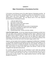 characteristics of developing country