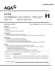 Indicative content in the mark scheme is provided as a guide for 18 pages aqa 84646p2h sqp urtaz Gallery