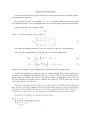 MATH 112 Cholesky Decomposition Notes