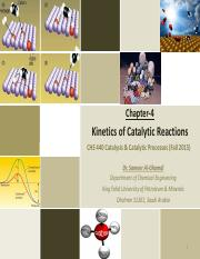 Chapter 4 Kinetics of Catalytic Reactions