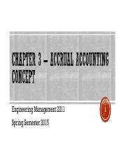 Chapter 3 – Accrual Accounting Concept