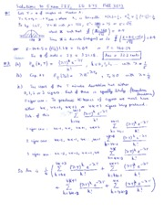 Solutions to Exam III