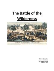 The Battle of the Wilderness.docx