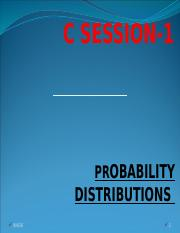 1.Credit Session1 Probability Distributions