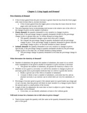 ECON 100 Buckles Chapter 5 Notes