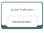 18 Nuclear Proliferation