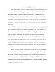 Service Learning Reflection Paper.docx