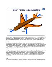 Four Forces Acting on an Airplane.docx