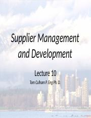 Lecture 10 Supplier Management.pptx