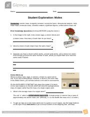 Moles Gizmo Assessment Question Answers.docx - Moles Gizmo ...