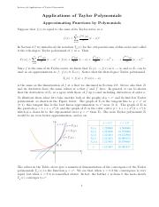 Applications_of_Taylor_Polynomials notes
