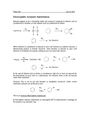 Chem 263 Aromatic Substitution Notes