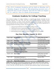 Aug14GradAcademyProgram