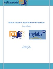Activate Math Sections - Student Guide