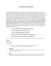 Ap world history audit syllabus final