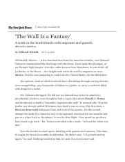 'The Wall Is a Fantasy' - The New York Times.pdf