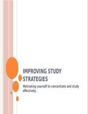 Improving Study Strategies (Motivation & Concentration).pptx