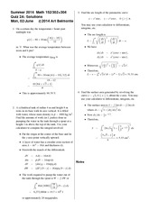 Quiz 2 Version A on Calculus 2