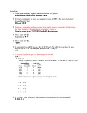 Econ Final Test Online revision