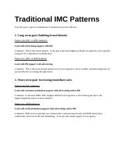 9 Traditional IMC Patterns.doc