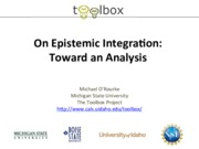 Epistemic Integration Workthrough