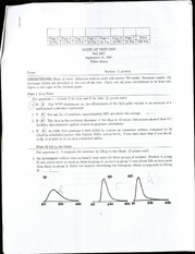 Math 147 Exam one and two samples with answers