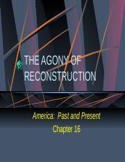 FH APUSH Chapter 16-Reconstruction