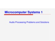 Audio Processing Problems and Solutions