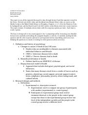 Health- Exam 1 Study Guide
