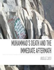 RELG 203 24. The Death of Muhammad and Aftermath.pdf