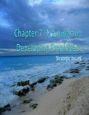 HR_StrategicIssues_Ch07-1 Training and development class version