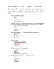 Cell Biology Fall 2008 Exam 2