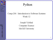 lecture 37 week12 Python