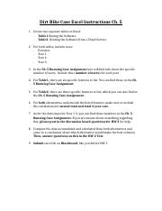 Dirt Bike Case Excel Instructions Ch. 5.docx