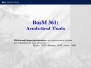 BusM 361 Analytical Tools Fall 10