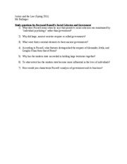 B. Russell Study Questions