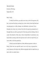 First person responce paper