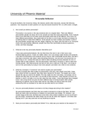 psy 250 personality reflection Psy 250 psychology of personality university of phoenix material - student personality reflection using the textbook, the university library, the internet, and/or other resources, answer the following questions.