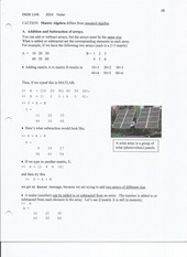 Class Notes on arrays