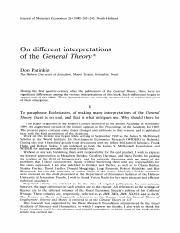 Patinkin 1990 On Different Interpretations of the General Theory
