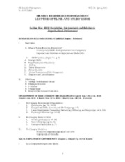 HR Lecture Outline & Study Guide_2013 (1)