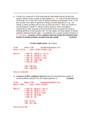Confidence Interval Assignment