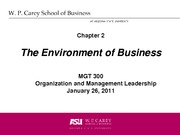 Week 02 CH 02 Environment of Business