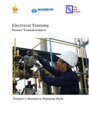 E-04 Power Transformers Trainer's Resource material pack WC_Rev1.doc