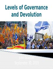 15 - Levels of Government and Devolution