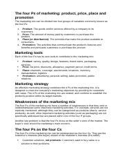 The four Ps of marketing.docx
