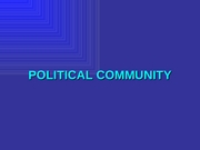 06 Political Community