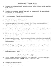 Great Gatsby Chapter Questions